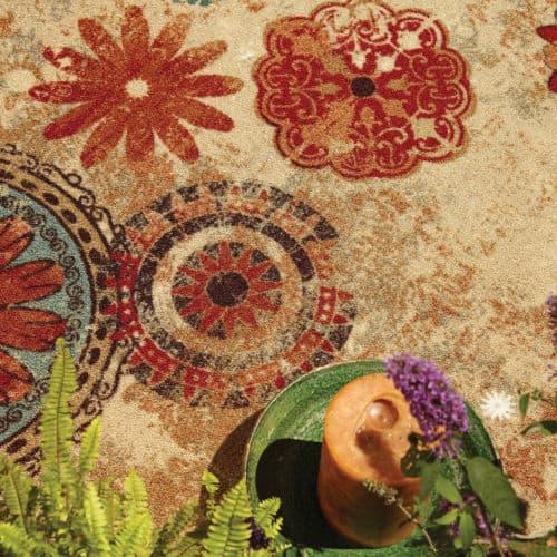 Mohawk Strata Caravan Medallion Rug Vintage Carpet Design
