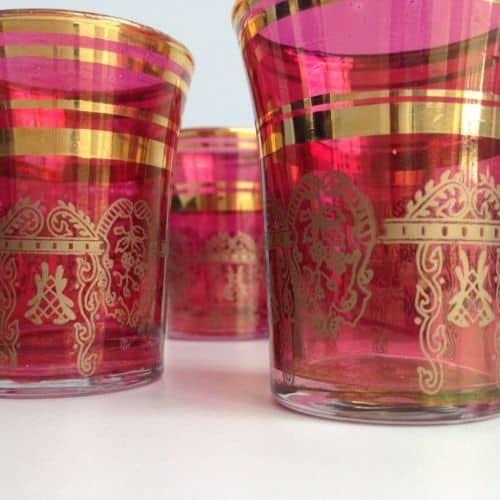 Moroccan Tea Handmade Glasses Vintage and Antique Items