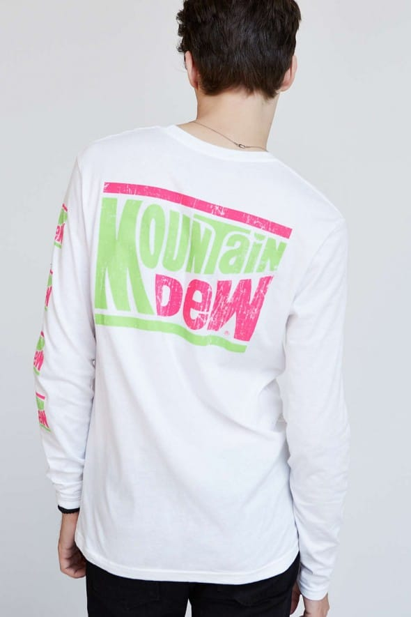 Mountain Dew Long-Sleeve Tee Vintage Logo Back Print