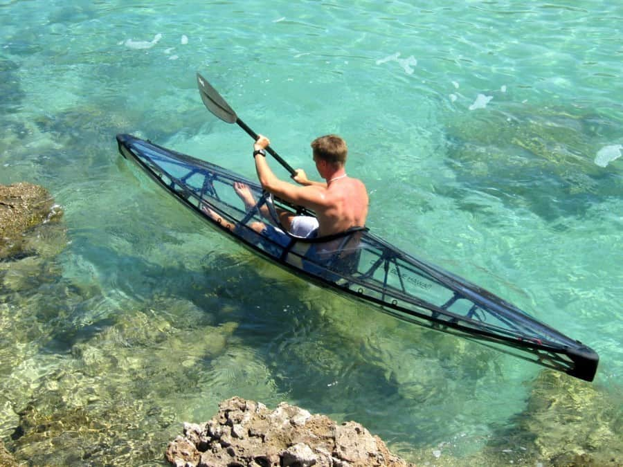 Double the adventure with a clear kayak!