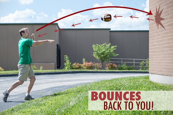 PassBack Training Football Bounces Back to You