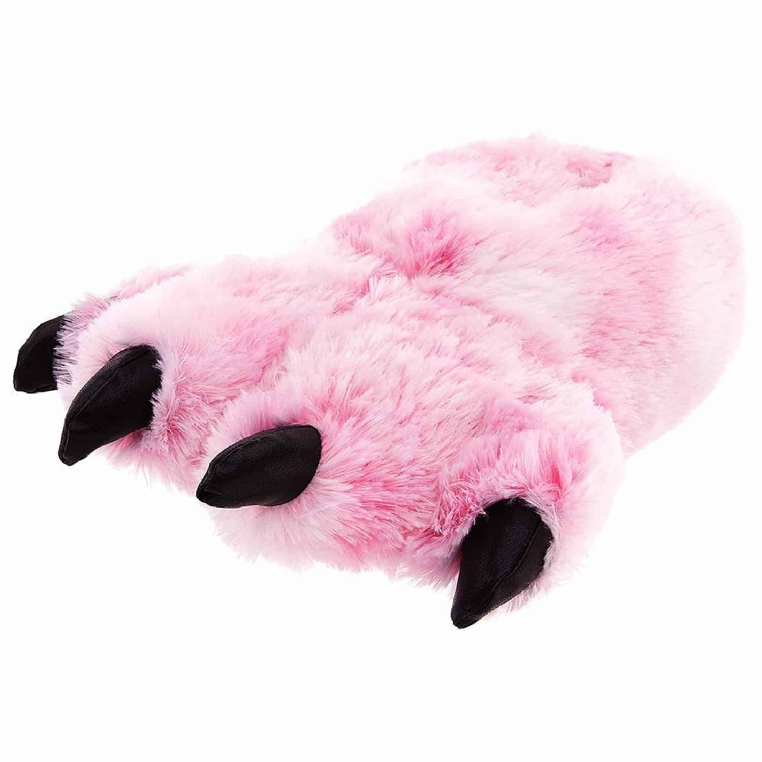 Pink Fuzzy Bear Paw Animal Slippers Comfortable to Wear