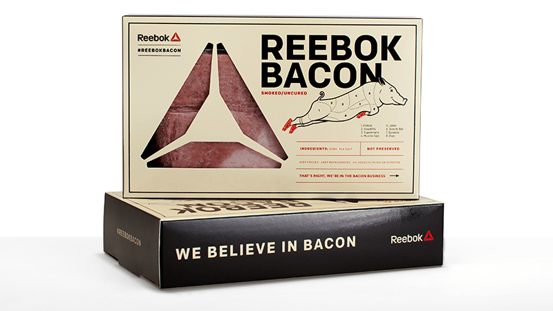Reebok Bacon that is not Cured s and Without Preservatives