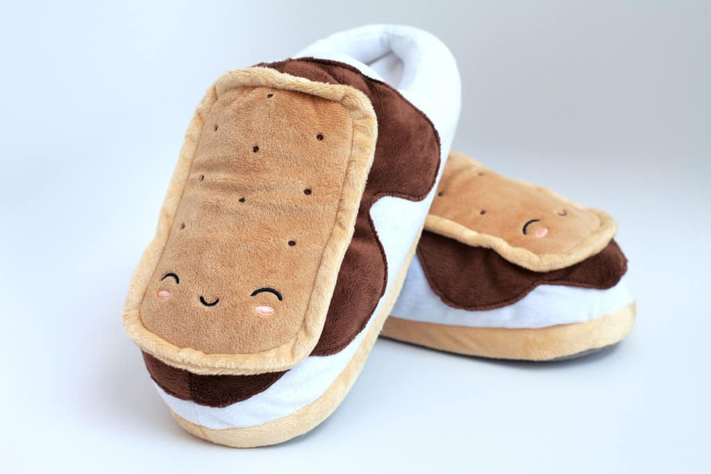 S'mores USB Heated Plush Slippers Cute Cartoon Foot Warmers