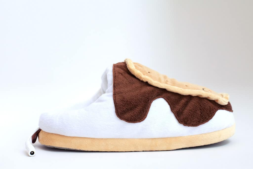 S'mores USB Heated Plush Slippers Keep your Feet Nice and Warm