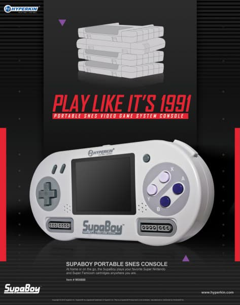 SUPABOY Portable Pocket SNES Console Play Like Its 1991 Retro Gadget Gift Idea