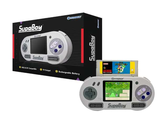 SUPABOY Portable Pocket SNES Console Super Mario World and its Sweet Black Box