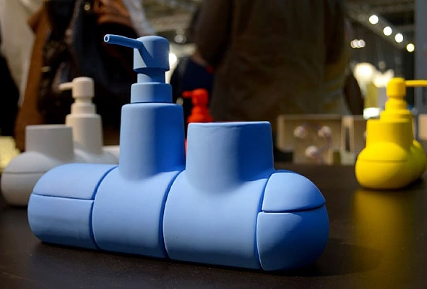 Seletti Submarino Bathroom Accessory Cute Blue Submarine Gift Idea