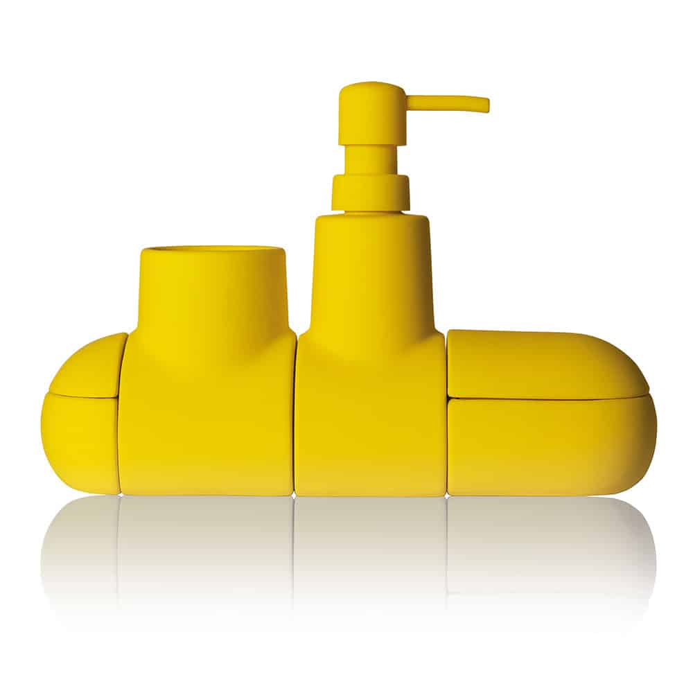 Seletti Submarino Bathroom Accessory Cute Little Yellow Sub Gift Idea