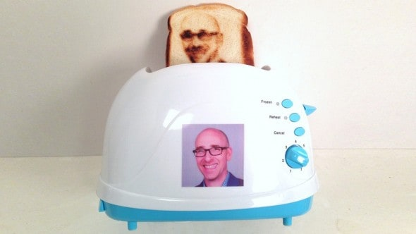 Selfie Toast Funny Toaster that Burns your Face in a Loaf of Bread