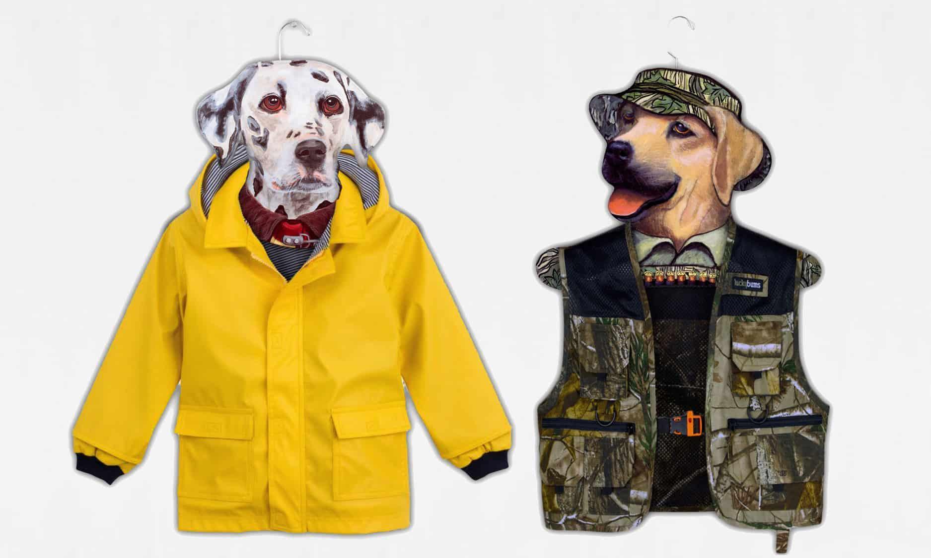 Stupell Animal Clothing Hangers Dogs Going Fishing Gag Gift