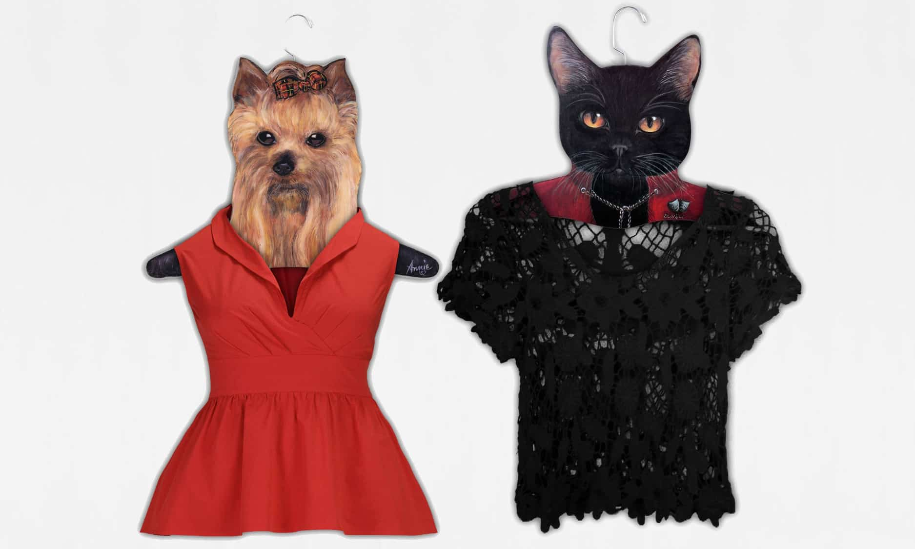 Stupell Animal Clothing Hangers When Cat and Dog Become Friends