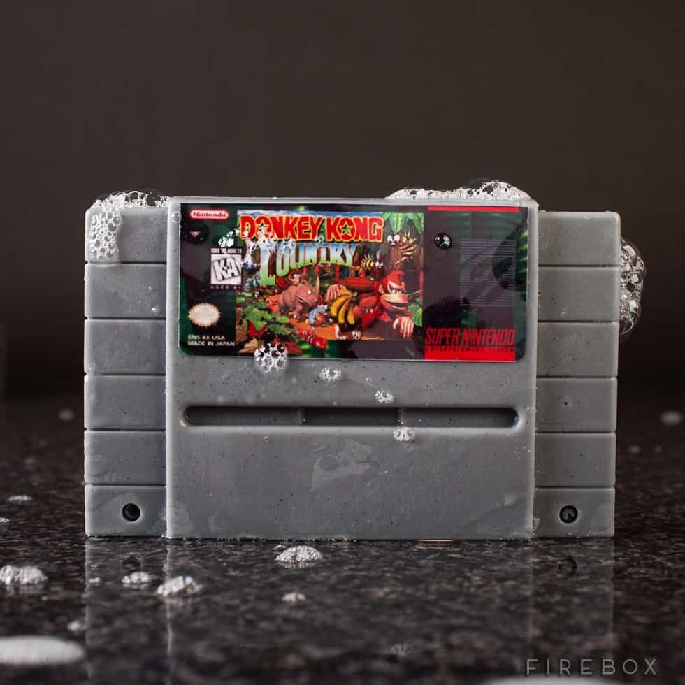 Super Nintendo Gamer Soap Cartridges Donkey Kong Country SNES Bath