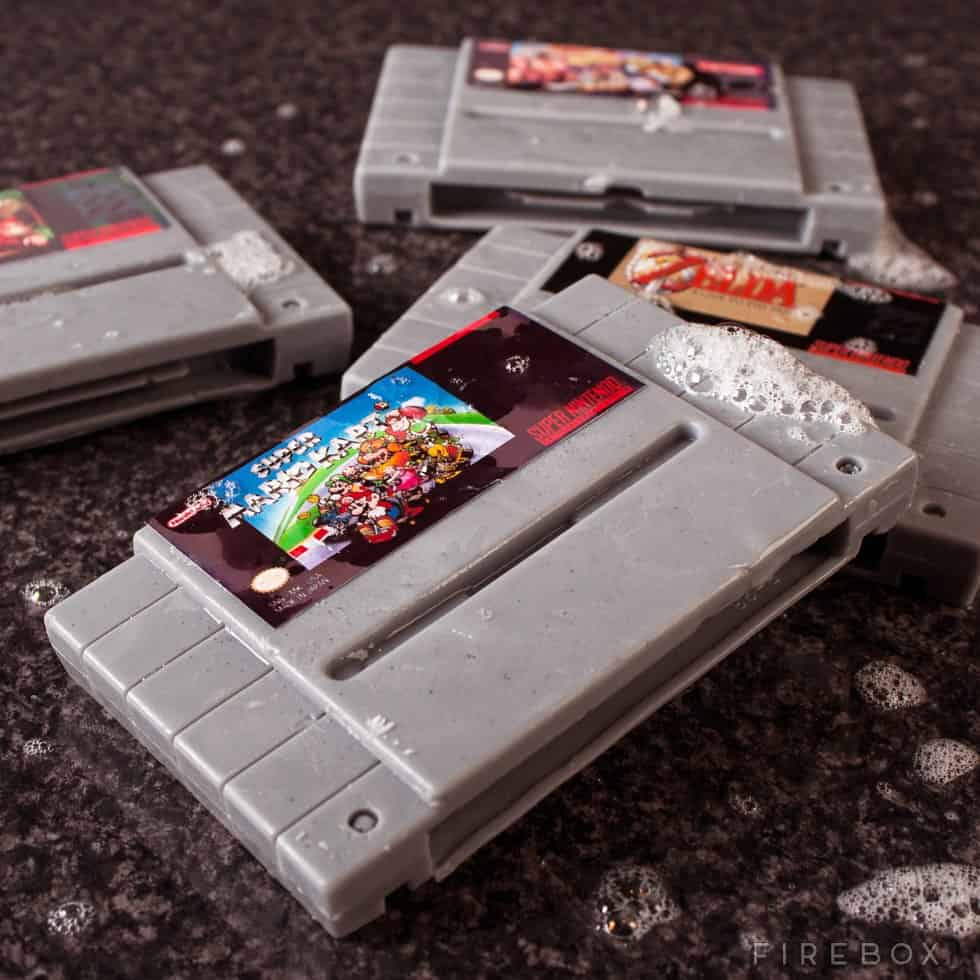 Super Nintendo Gamer Soap Cartridges Novelty Gift for Gamer and Geek Friends