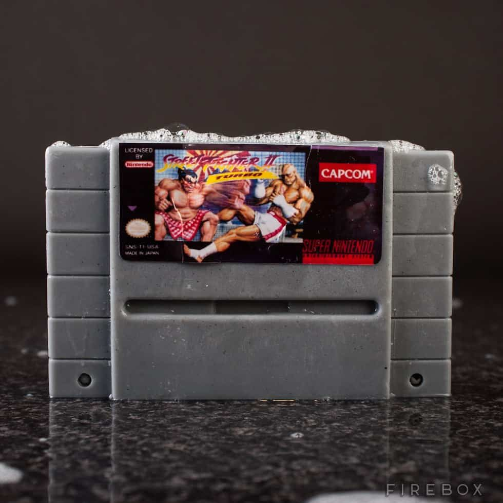 Super Nintendo Gamer Soap Cartridges Street Fighter II Turbo SNES Bath