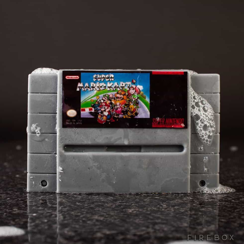Super Nintendo Gamer Soap Cartridges Super Mario Cart SNES Bath