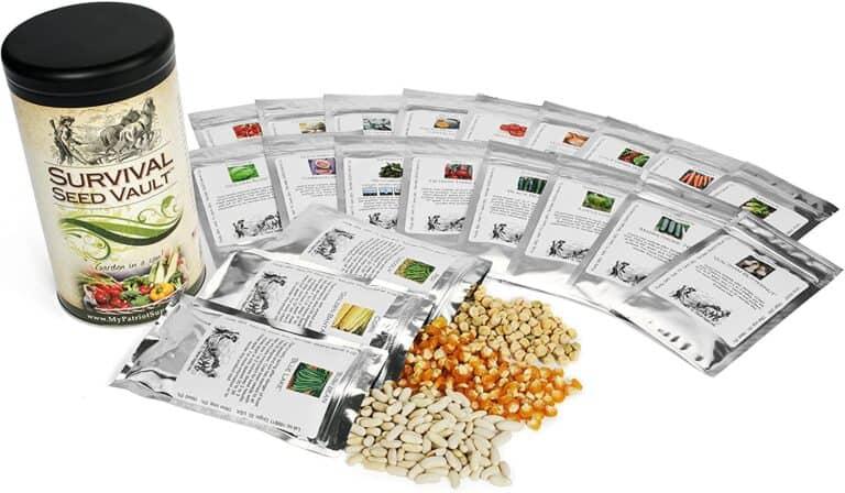 Survival Seed Vault Garden Can Non GMO Seeds