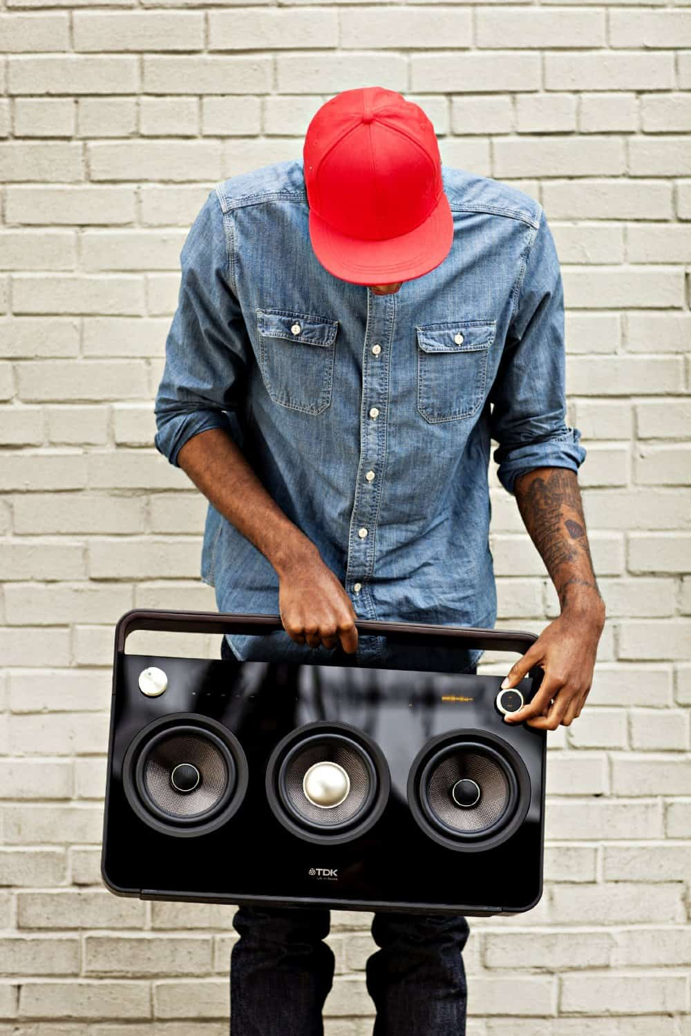 TDK Life on Record 3-Speaker Boombox Audio System Retro Sexy Gadget Design