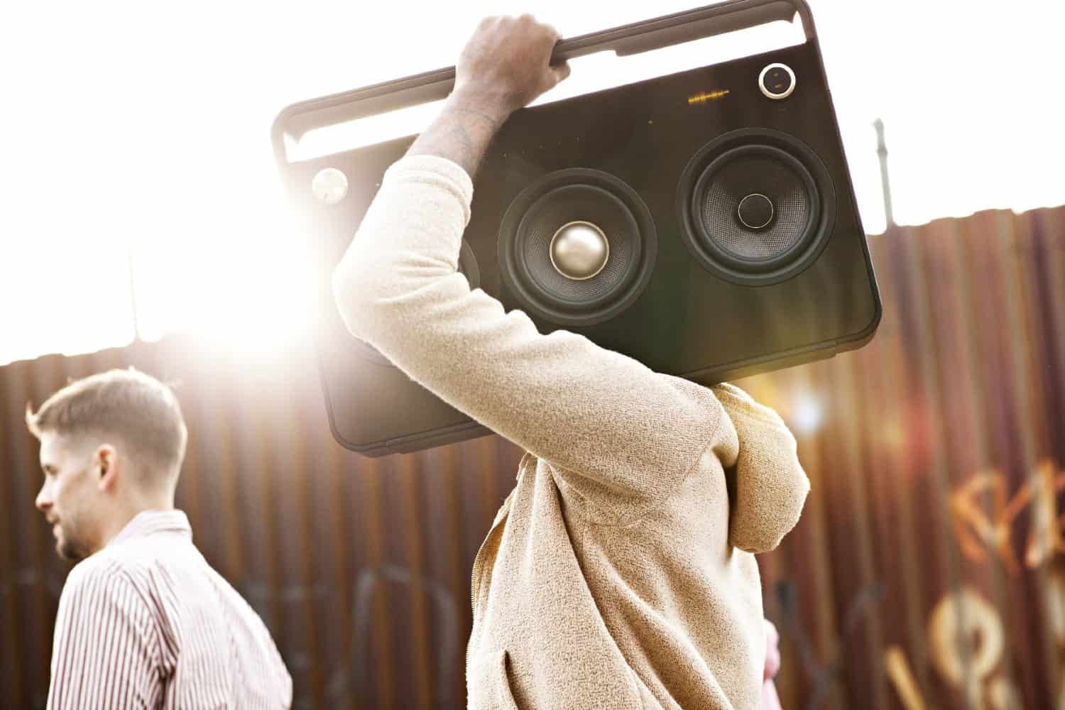 Life is better when you're listening on a cool boombox.