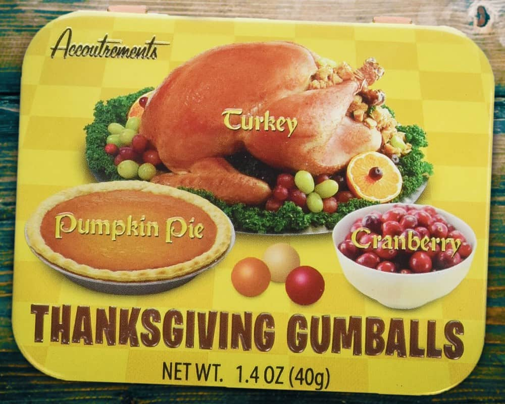 Taste the flavors of Thanksgiving in a gumball.