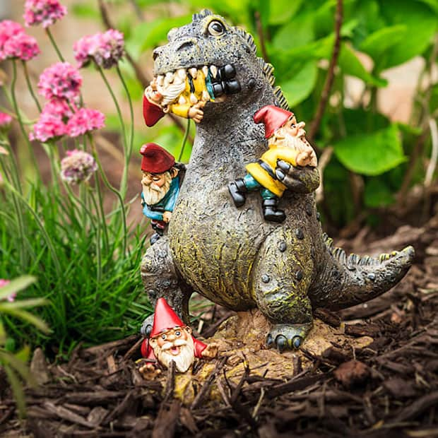 The Great Garden Gnome Massacre Kaiju Cool and Funny Garden Decoration