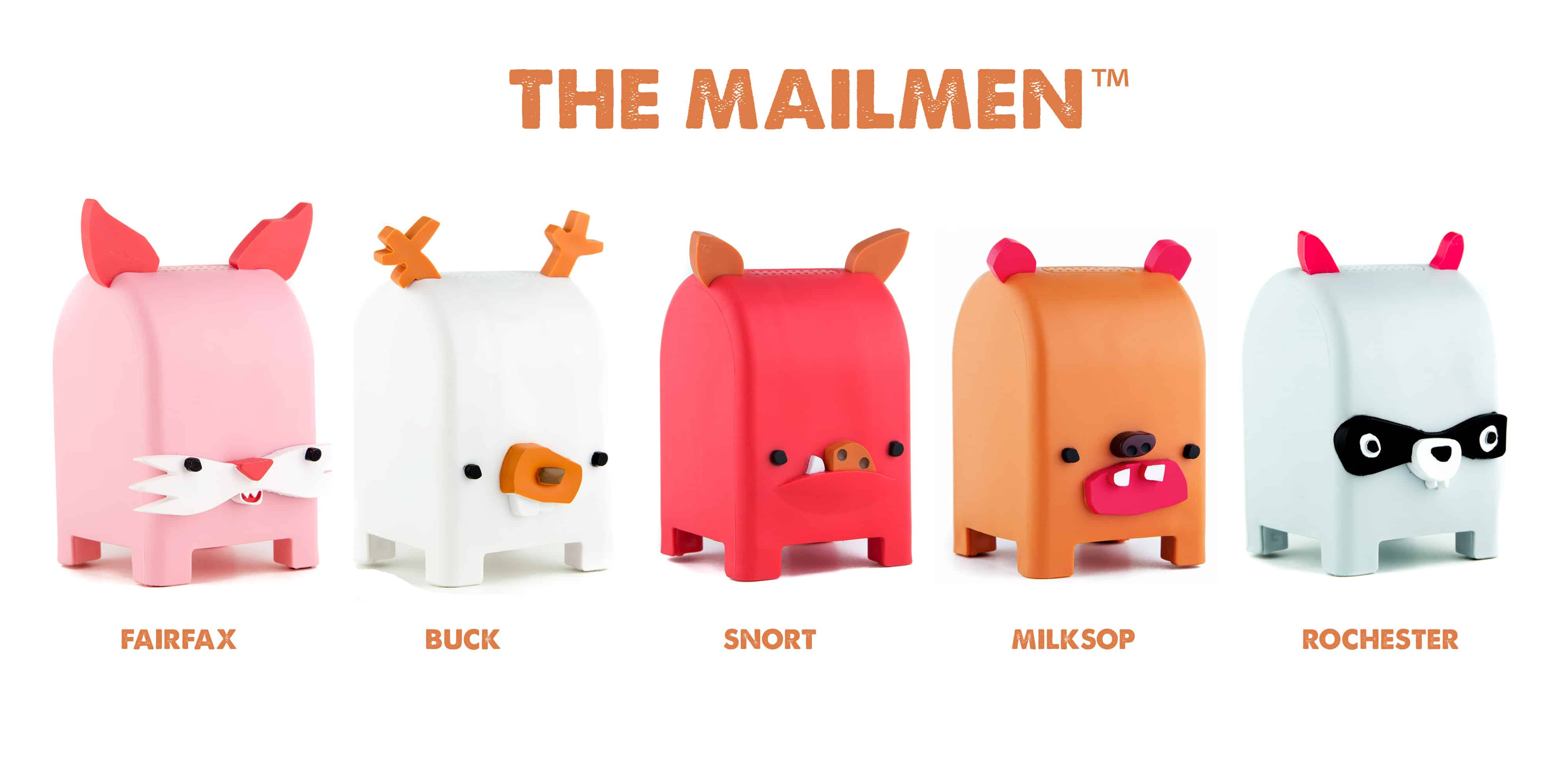 Toymail WIFI Messaging Toy the Mailmen Line Up Leave Cute Voice Messages to Love Ones