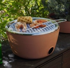 The flower pot that grills.