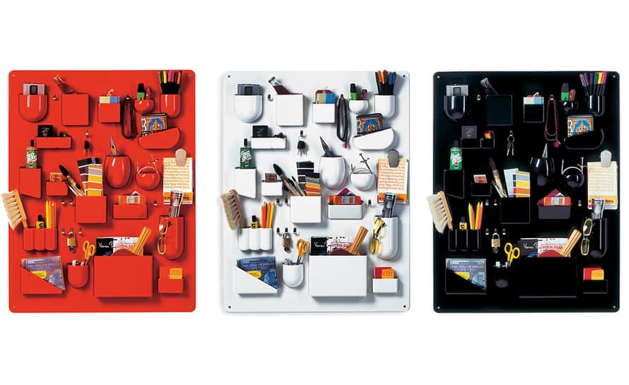 Vitra Uten Silo Wall Storage Red White and Black Varieties Designer Organizer for Home and Office Use