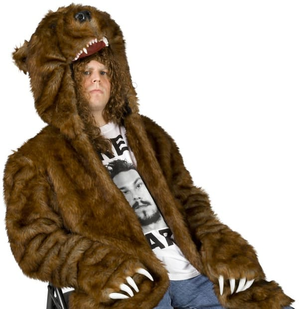 Workaholics Official Bear Coat Brown Grizzly Bear