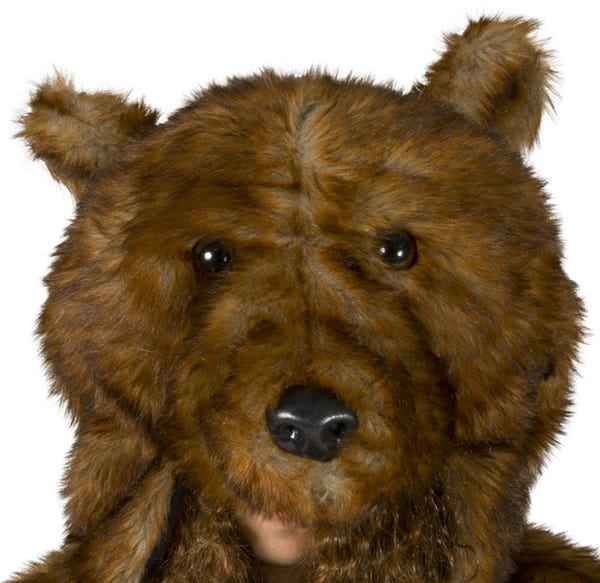Workaholics Official Bear Coat Head Detail