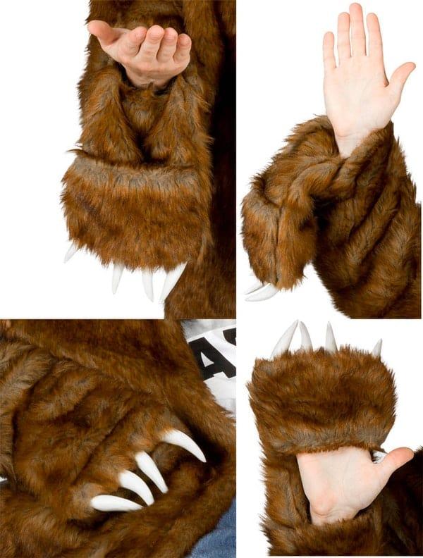 Workaholics Official Bear Coat Paw Details