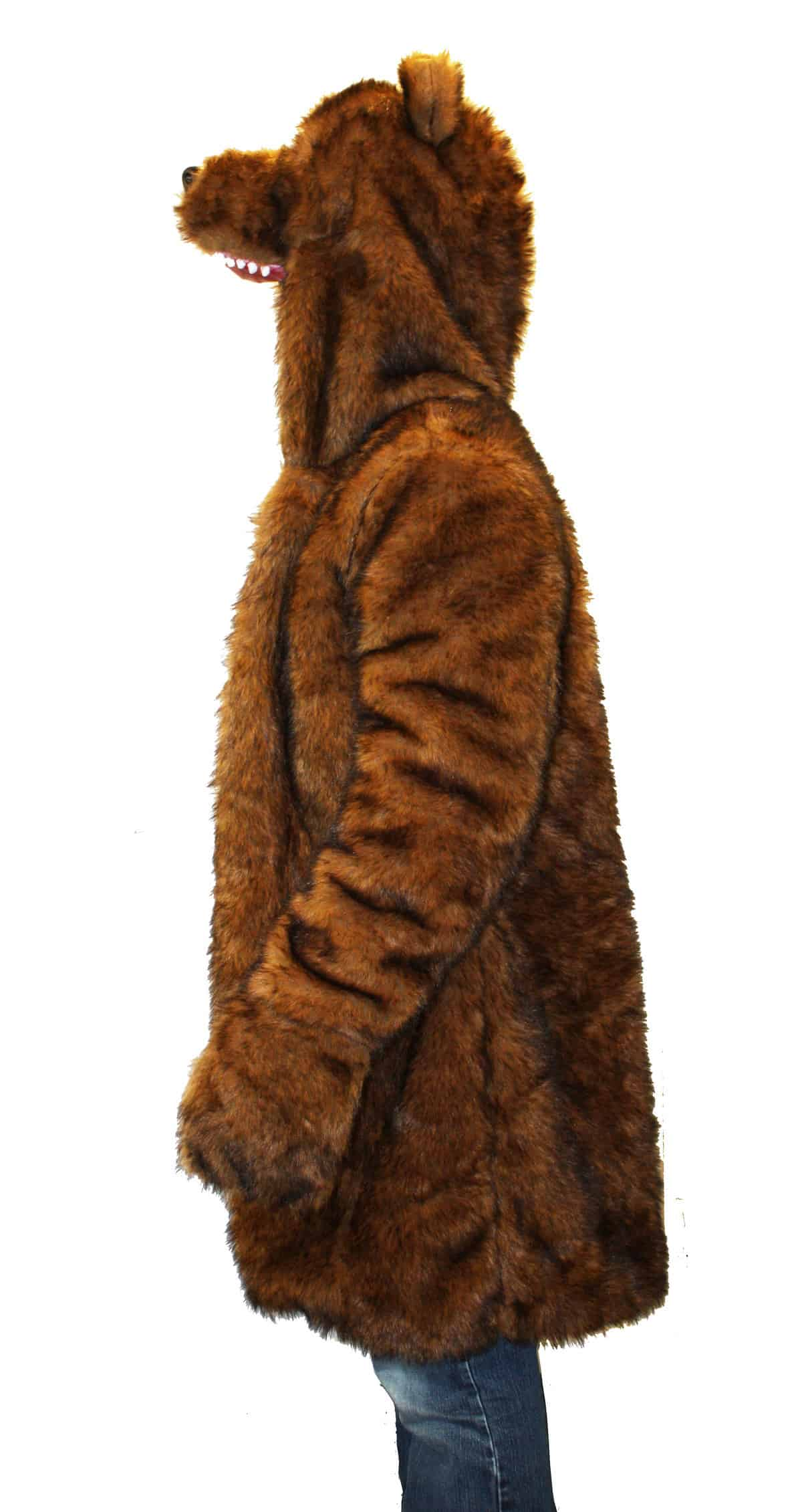 Workaholics Official Bear Coat Side View Plush Jacket