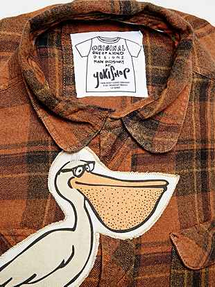 Yokishop Jet Plane Backpack Geek Pelican Patch on Shirt