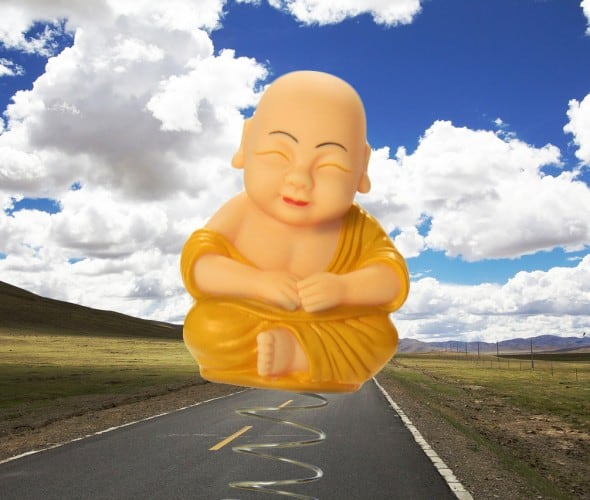 Accoutrements Dashboard Monk Cute Funny Novelty Item