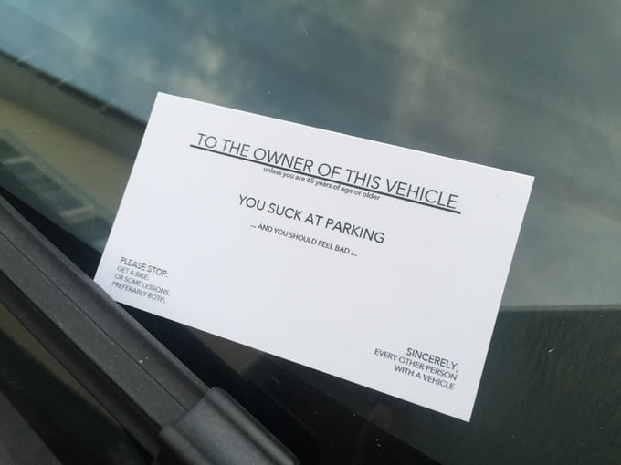 Bad Parking Card You Suck At Parking