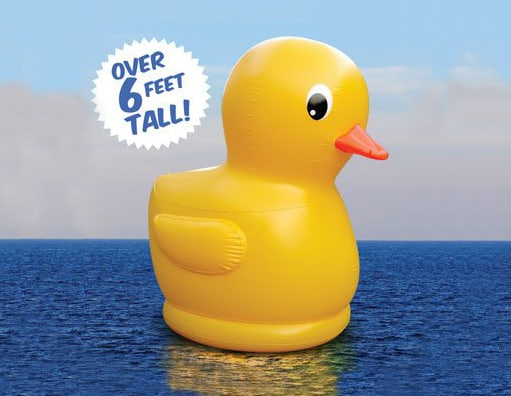Big Mouth Toys Gigantic Inflatable Rubber Ducky Pool Party Must Have Unique Outdoor Fun