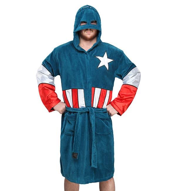 Captain America Terry Robe Funny Bathroom Gift Idea
