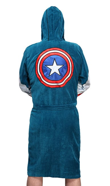 Captain America Terry Robe Funny Gift for Dad