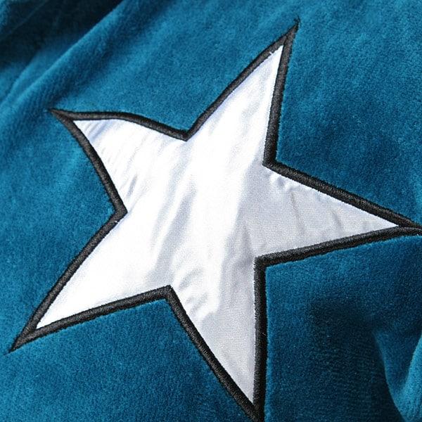 Captain America Terry Robe White Star on Bathrobe