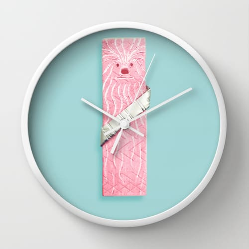 Chewy Wall Clock by Sarajea White Frame Star Wars Humour