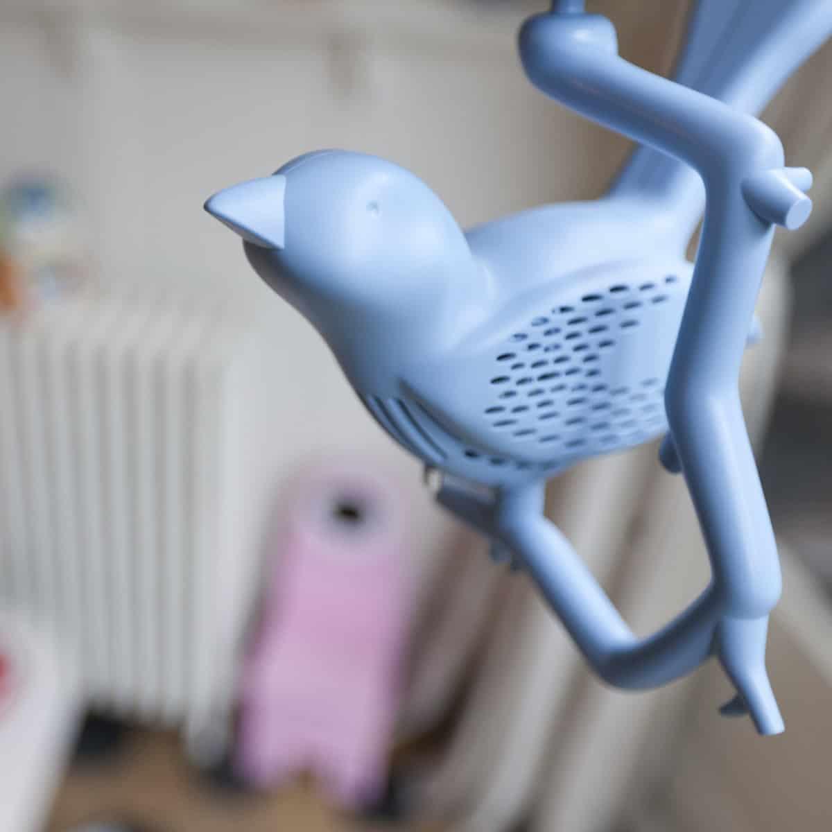 Chick-a-Dee Smoke Detector Cute Blue Bird