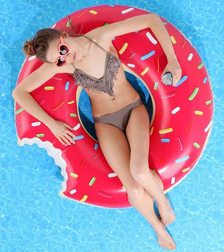 Donut Pool Float Cute Inflatable Novelty Item for Summer Parties