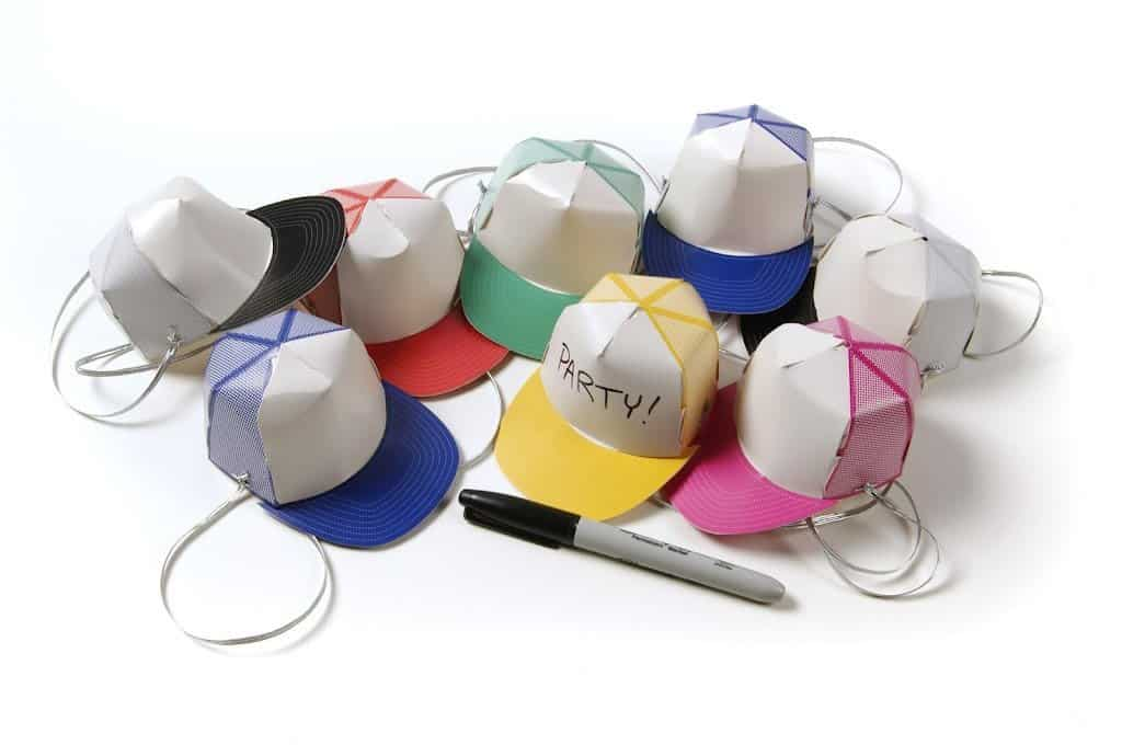 Gamago Awesome Party Hats Assorted Writable Paper Caps