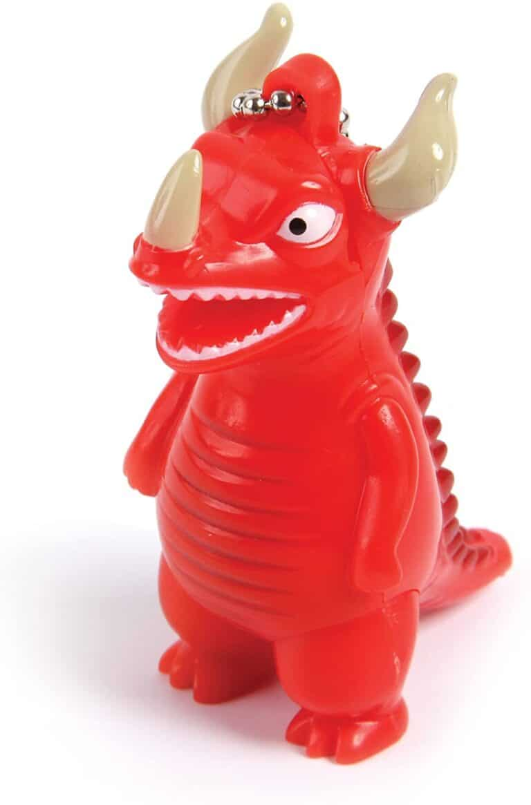 Gamago Kaiju LED Key Chain Awesome Red Plastic Toy