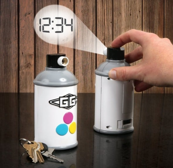 Gamago Spraycan Projection Clock Fun Cheap Gift Idea