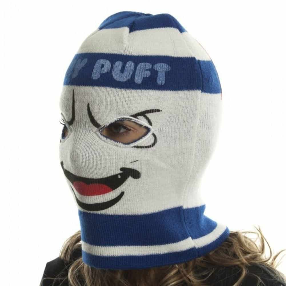 Ghostbusters Stay Puft Marshmallow Man Ski Mask Geek Retro Winter Gear
