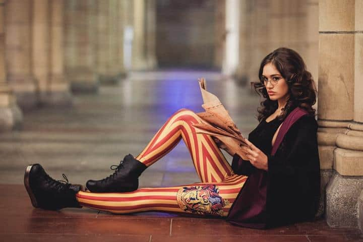 Harry Potter Striped Leggings Sexy Gryffindor Student