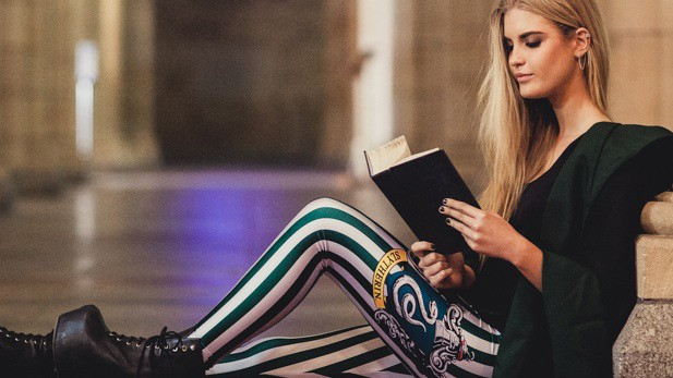 Harry Potter Striped Leggings Sexy Slytherin Student