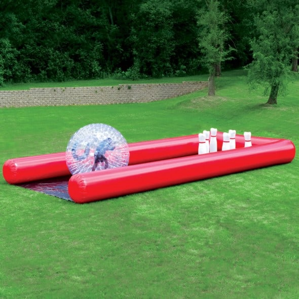 Human Bowling Ball Entertaining Outdoor Activity