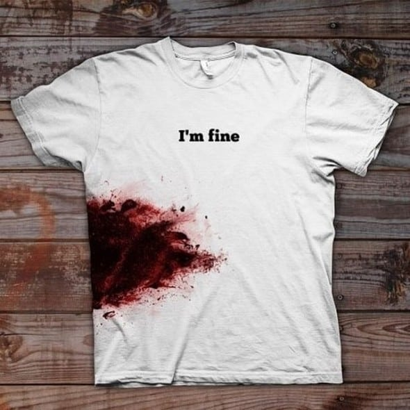 Im Fine Shirt Funny Novelty Zombie Shirt